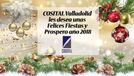 Cosital Valladolid les desea unas Felices Fiestas y Próspero año 2018